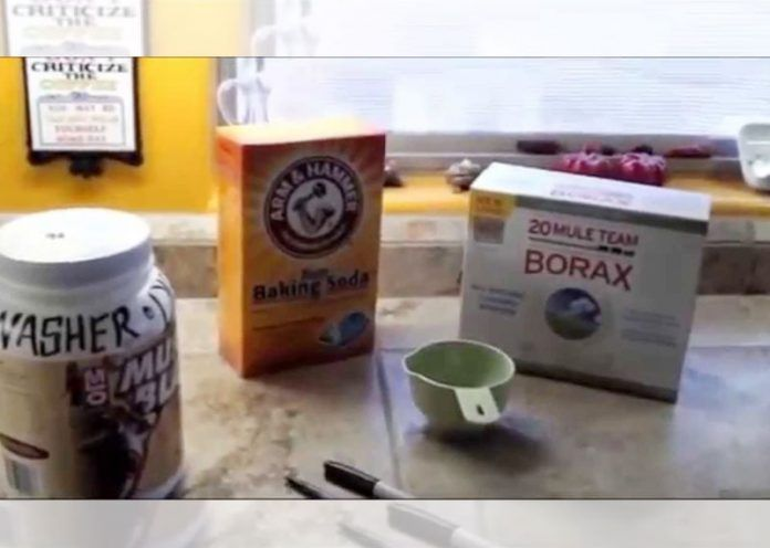 Borax cleaner for oven and gas appliances