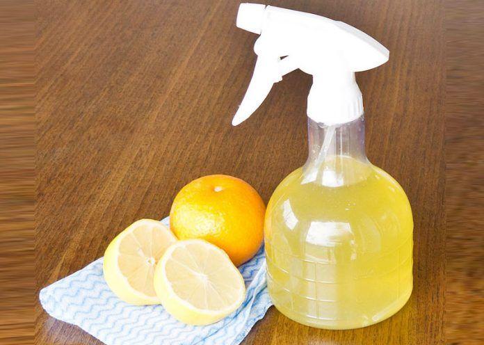 Lemon oil cleaner for dust