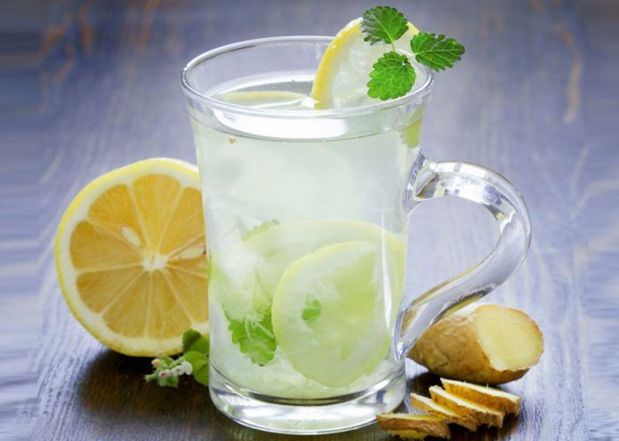 Ginger and Lemon detox water