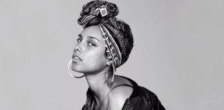 Alicia Keys No Makeup Look