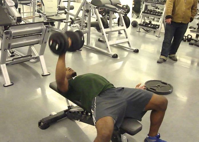One-Sided Dumbbell Press