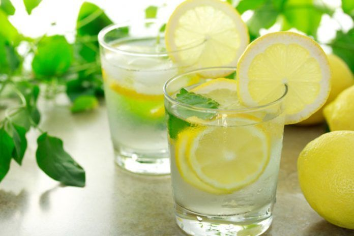 water with lemon juice