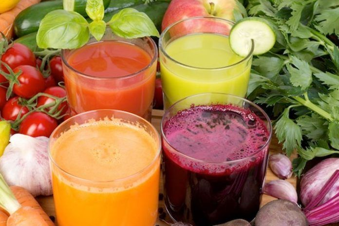 Consume fresh vegetable juice