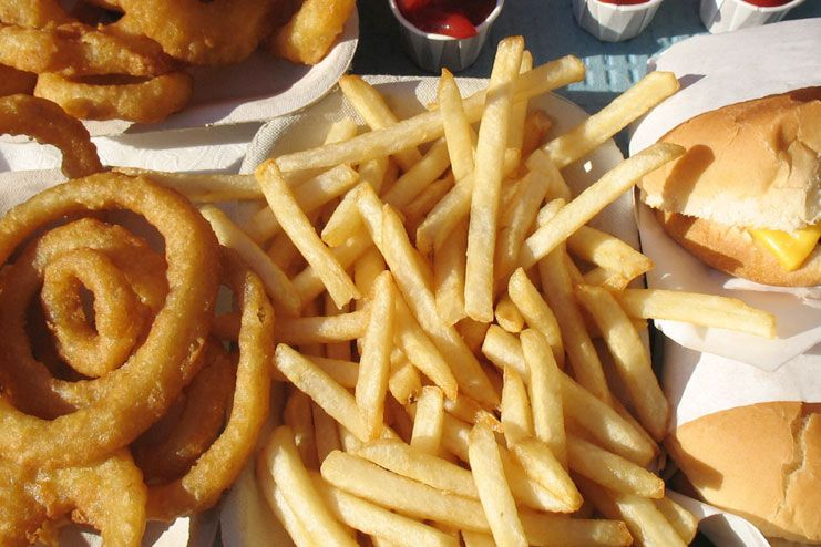 Fried and processed foods