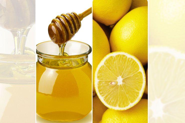 Lemon, honey and water