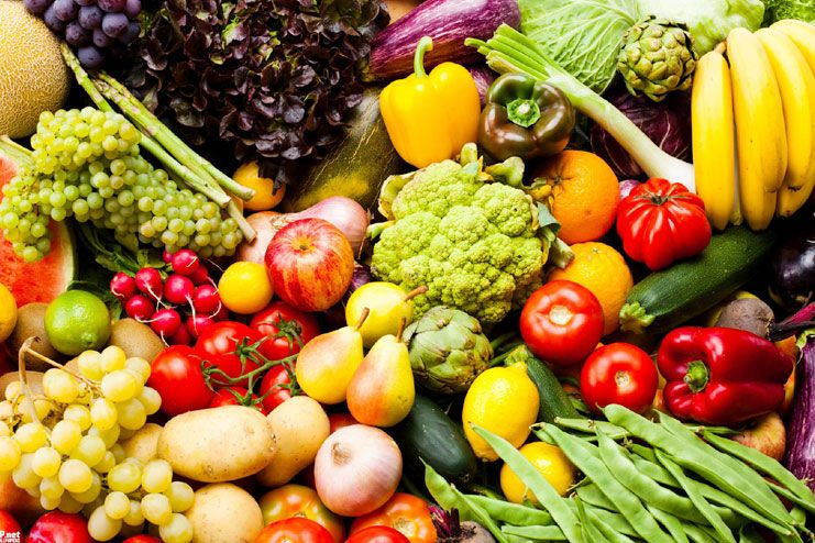 Fruits and vegetables should be eaten