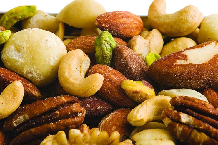 Dry fruits are rich fibrous foods