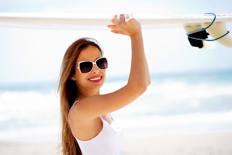 Wear UV protective glasses