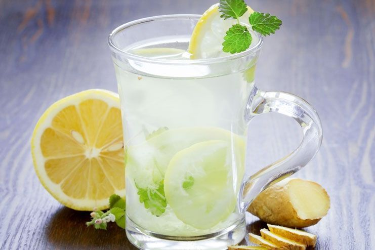 Lemon and ginger water