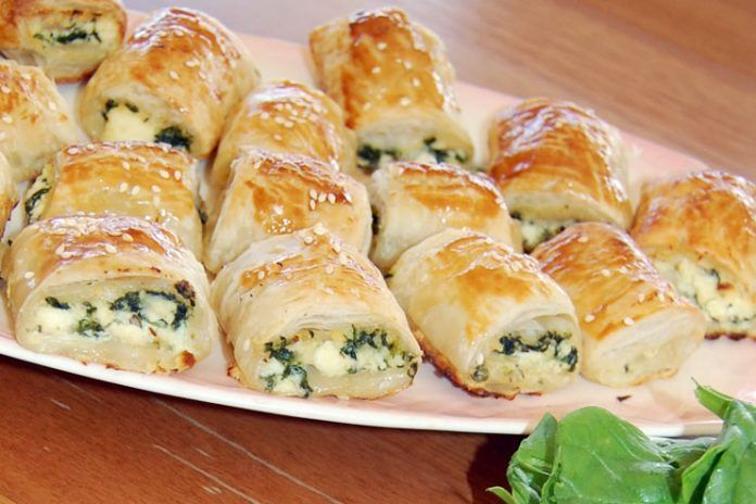 Baked Spinach Roll