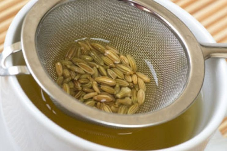 Procedure of making fennel tea