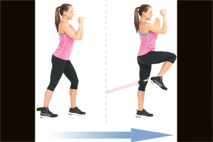 Standing hip extension