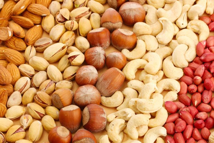Cashews and peanuts