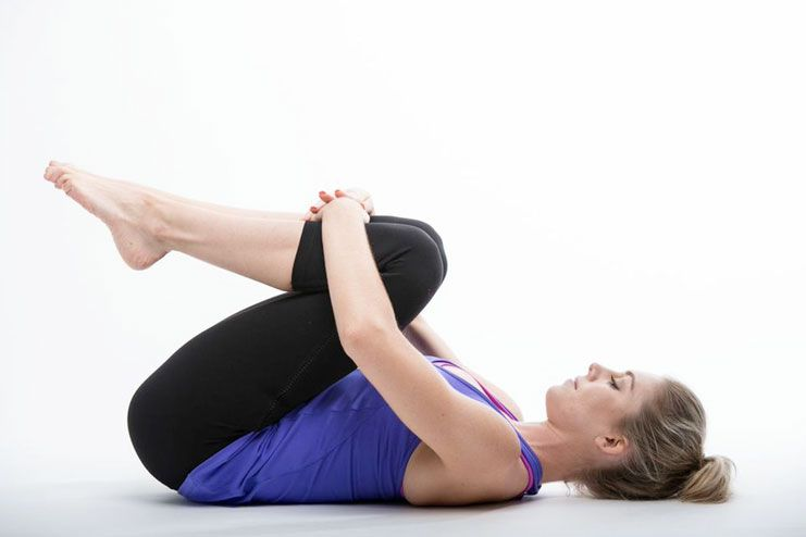 Knee hug stretch