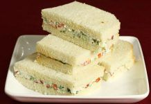 Healthy Cucumber and Green Pea Sandwich