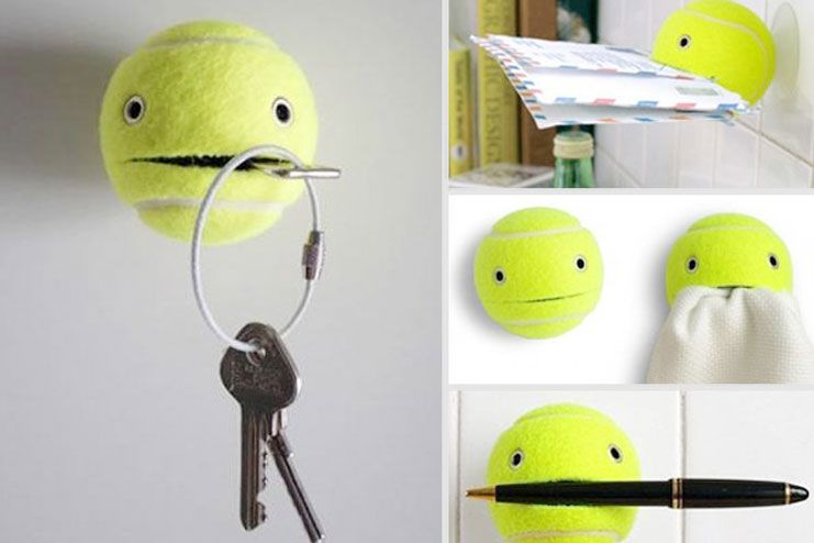 Use old tennis ball