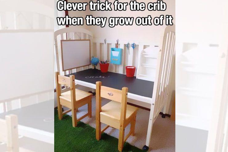 Have a crib lying