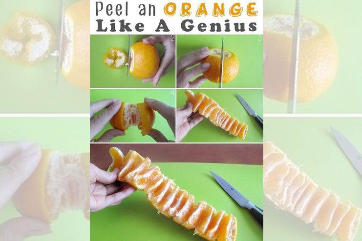 Genius orange peeling hack