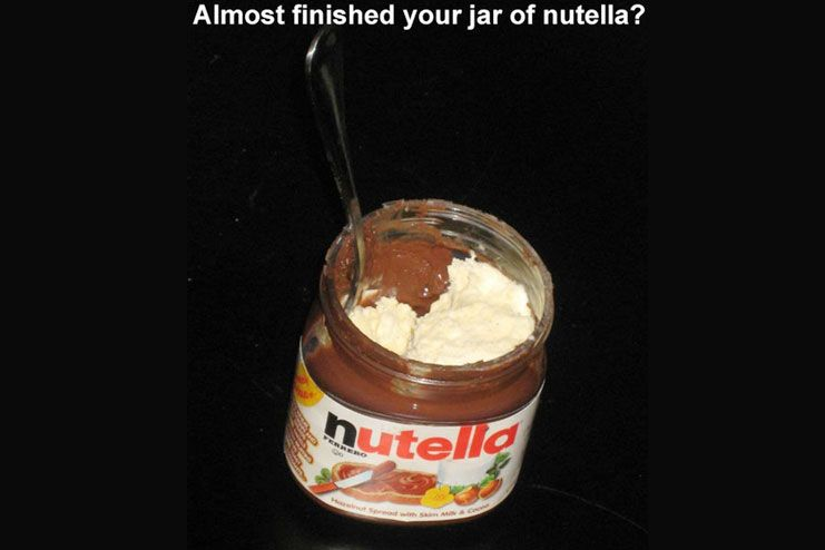Nutella saving hack