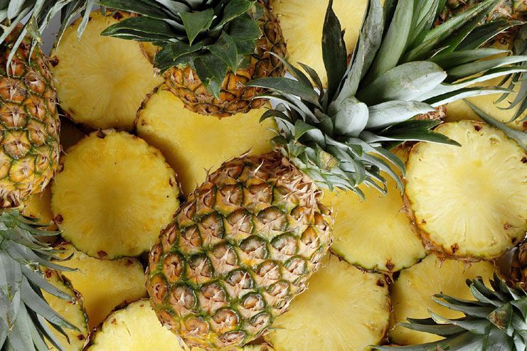 pineapple consumption