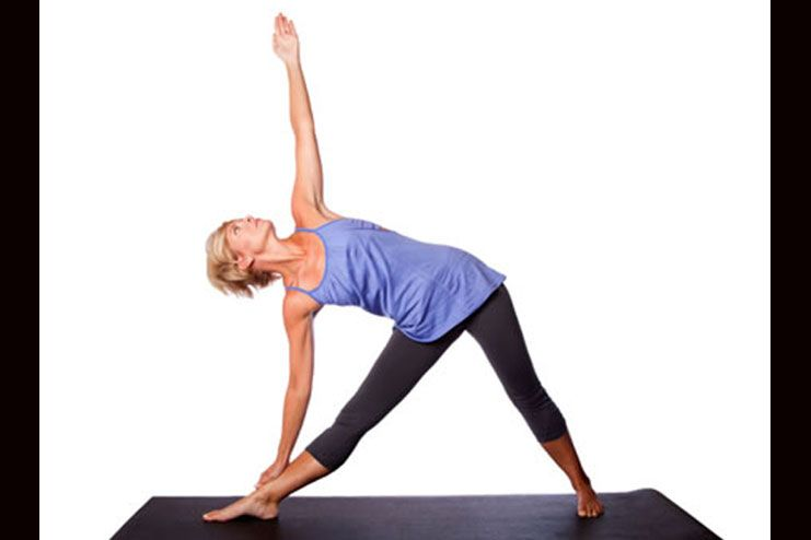 Trikonasana or triangle pose for scoliosis