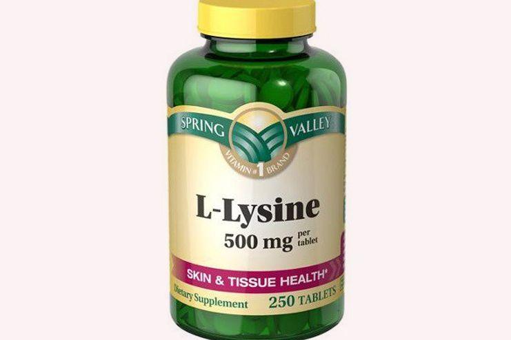 Lysine for tongue sores