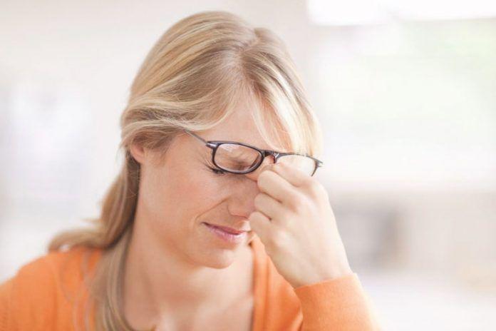 headache behind eyes
