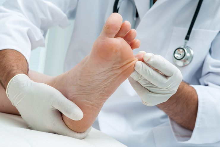 Diabetic foot symptoms