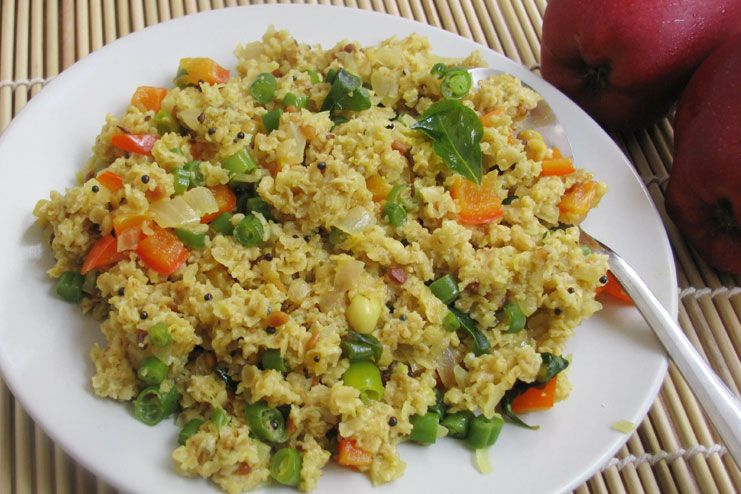 Oatmeal with loads of vegetables