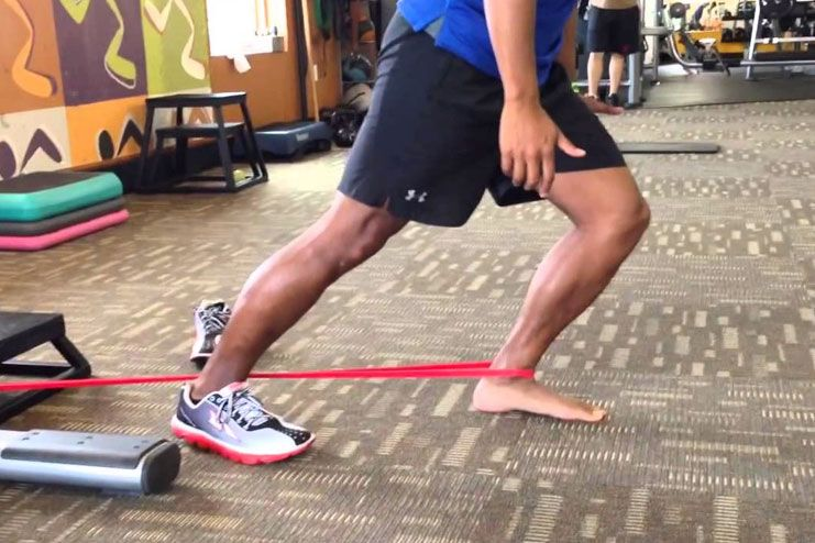 Ankle Band Distractions-Knee Strengthening Exercises