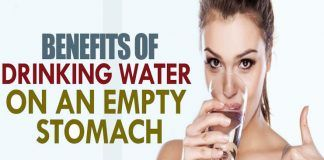 drinking water on an empty stomach