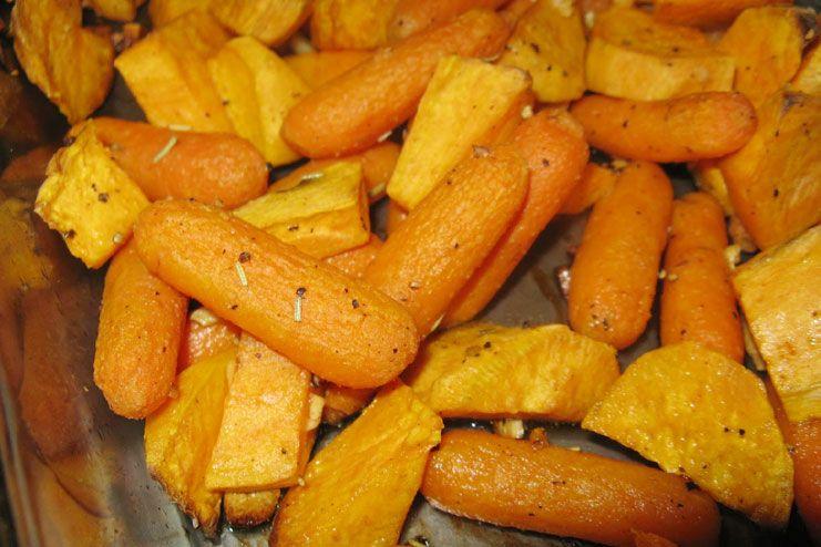 Carrots and Sweet Potatoes
