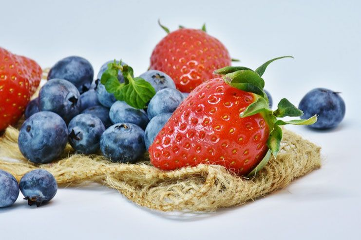 Blueberries and Straw Berries