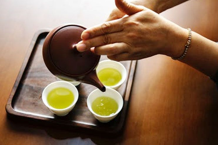 Green tea helps burning the fats