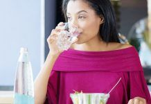 Drinking water after meals