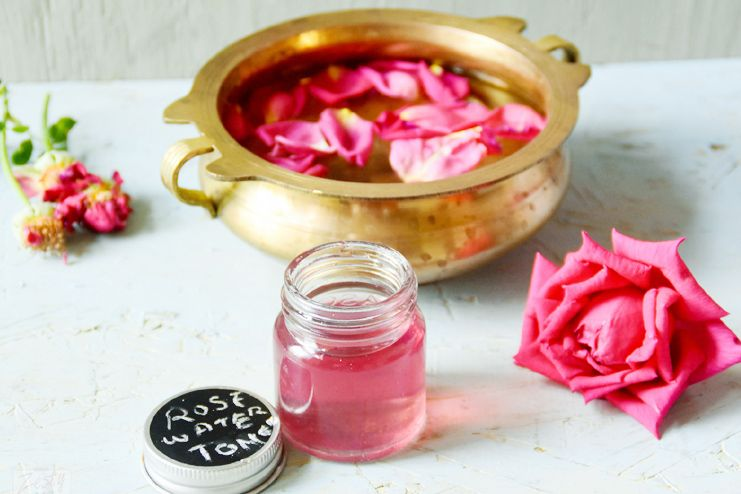 Facial hair removal with rose water