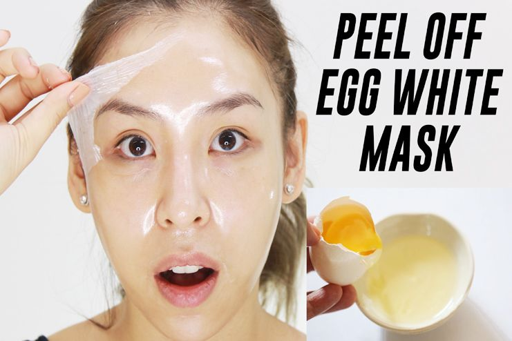 Facial Hair Removal with Egg Mask
