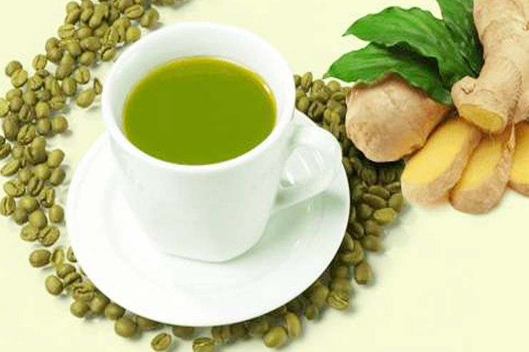Green coffee with ginger