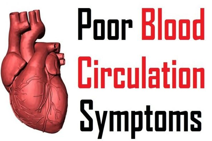 What are the symptoms of poor blood circulation