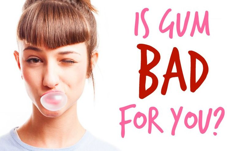Is chewing gum bad