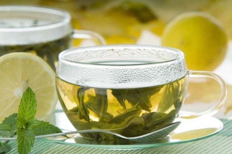 Spearmint tea for upper lip hair removal