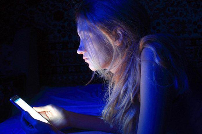 Avoid blue night at night