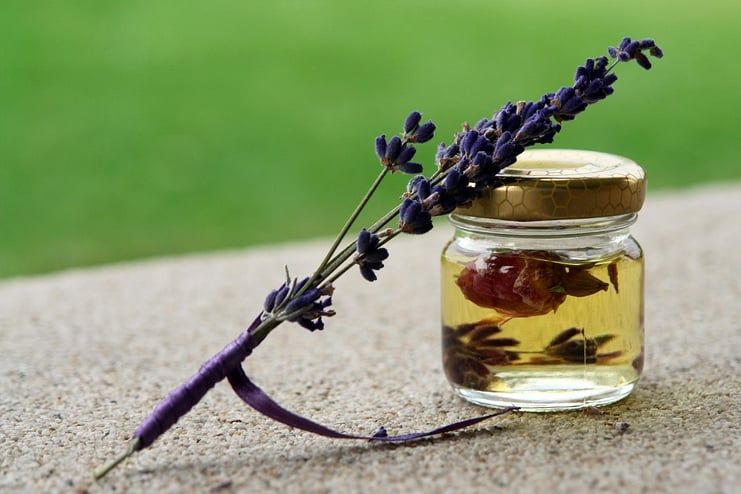 Coconut Oil and Lavender Oil
