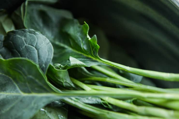 Green leafy vegetables to increase Platelet count