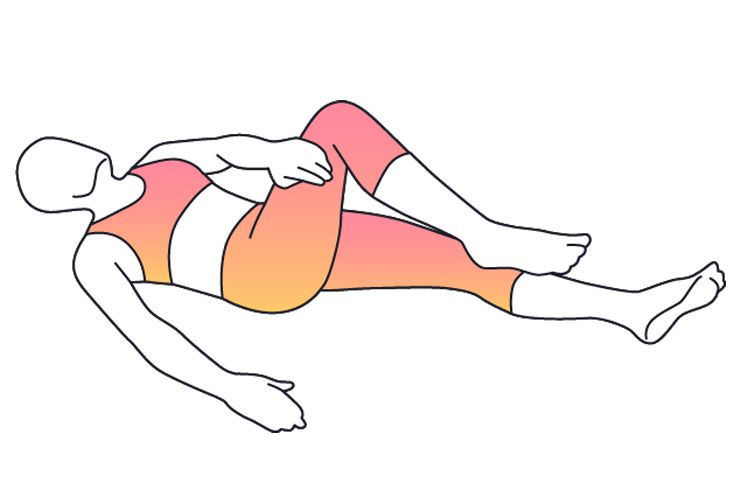 Lying Piriform Stretch