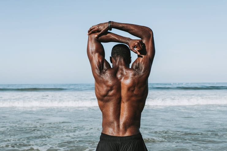 Tones the back muscles