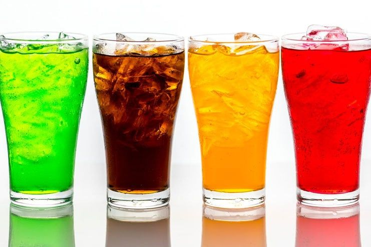 Cut down the sweetened carbonated beverages
