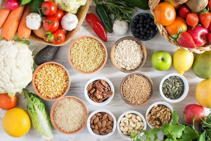 Not consuming dietary fibers