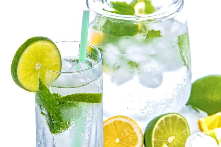Start the day with lemon water