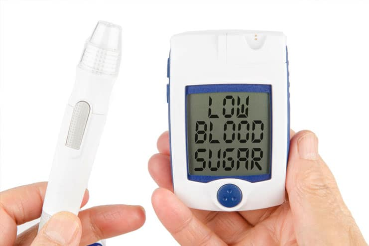 Beware of signs of hypoglycemia